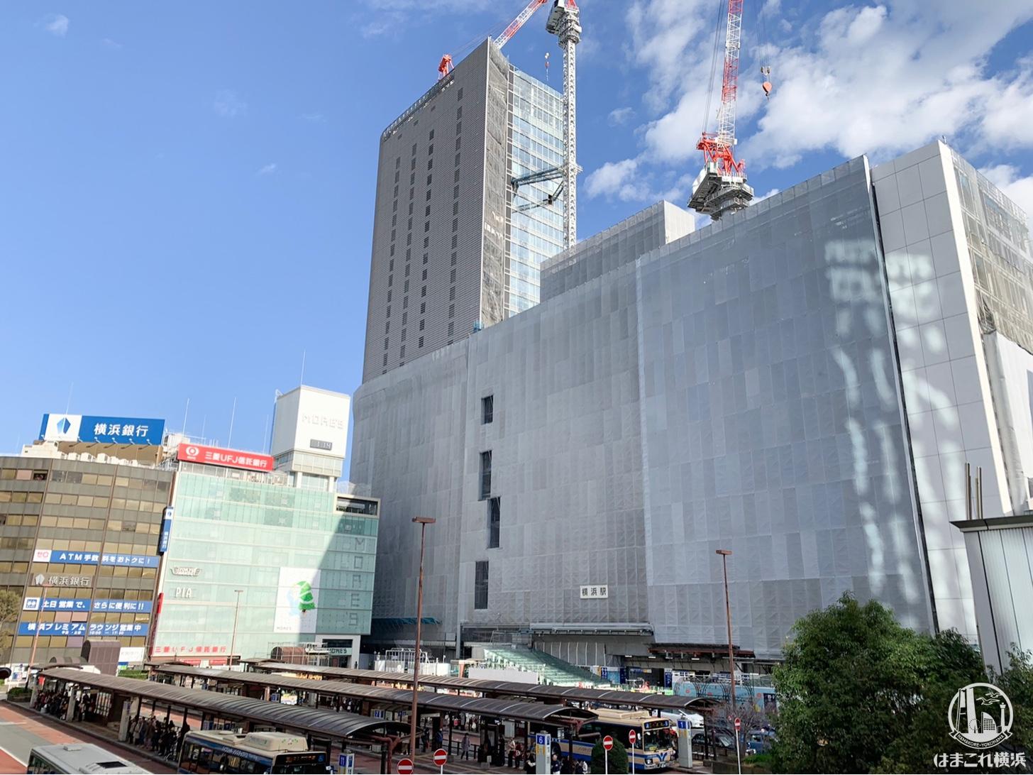 2018年12月 横浜駅西口の様子
