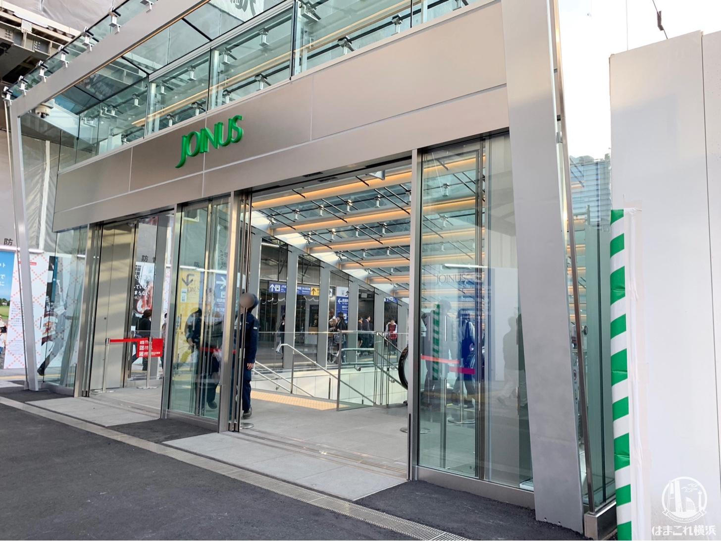 横浜駅西口 モアーズ側の新エスカレーター