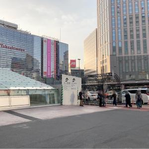 横浜駅西口 駅前広場の新通路、新エスカレーター開通!馬の背解消通路にも変化