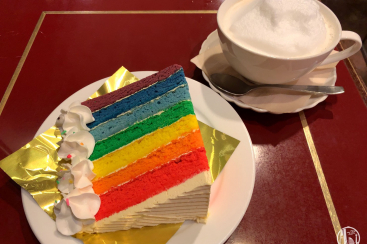 横浜駅「サモアール」のレインボーケーキは数量限定の希少スイーツ!老舗紅茶喫茶