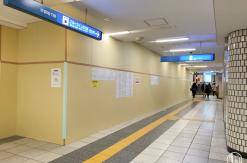 横浜駅 市営地下鉄 地下1階にスロープ設置!既存コインロッカーは閉鎖し別の場所に新設