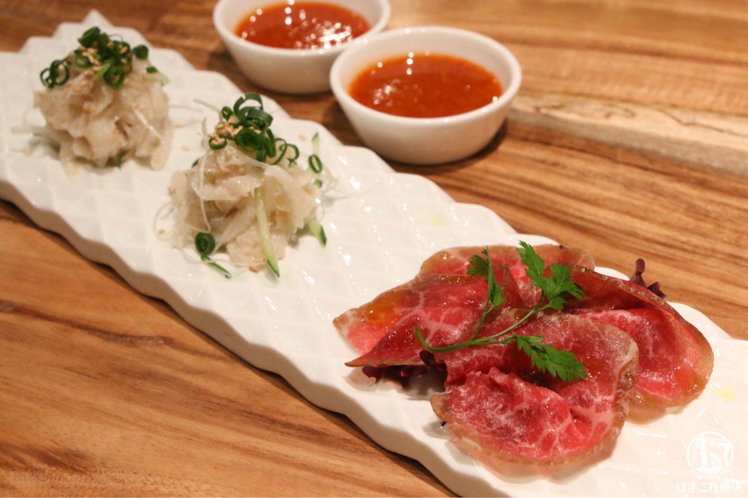 お肉の前菜2種