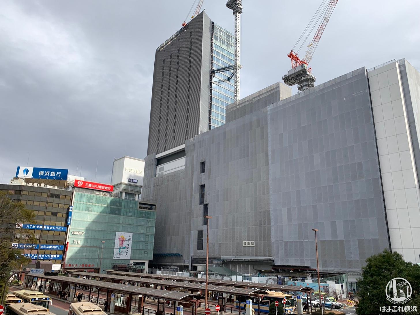 2019年1月 横浜駅西口の様子