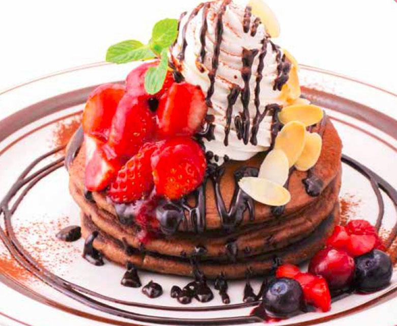 アンドダブルレインボー「ストロベリーチョコレートパンケーキ」