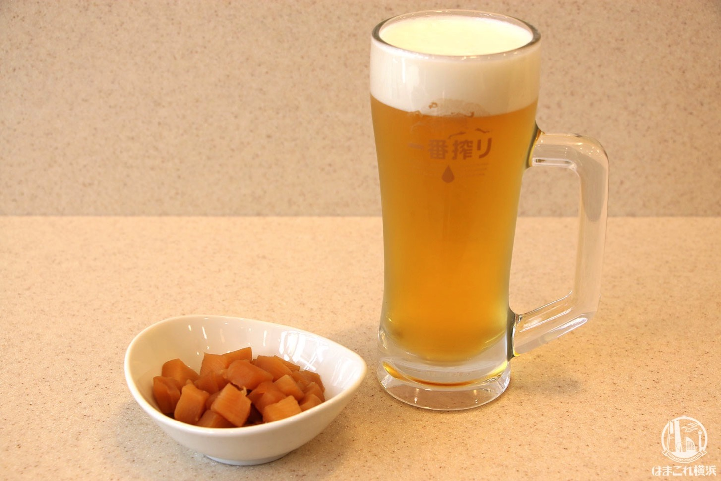 筍煮とビール