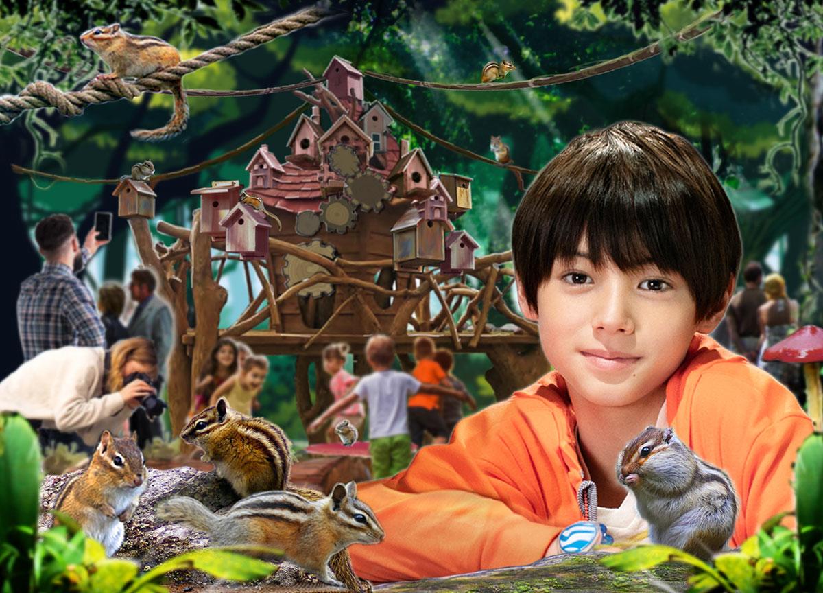 オービィ横浜 完全屋内型リス園 シマリスの森「アニマル ヴィレッジ」を新オープン!