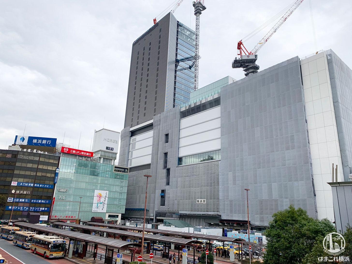 2019年2月 横浜駅西口の様子