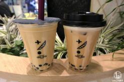 横浜駅「茶BAR(バー)」のタピオカドリンク、茶ラテと岩塩クリーム茶W体験