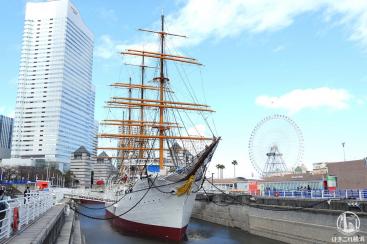 帆船日本丸、大規模改修の塗装・注水直後の姿を撮ってきた!