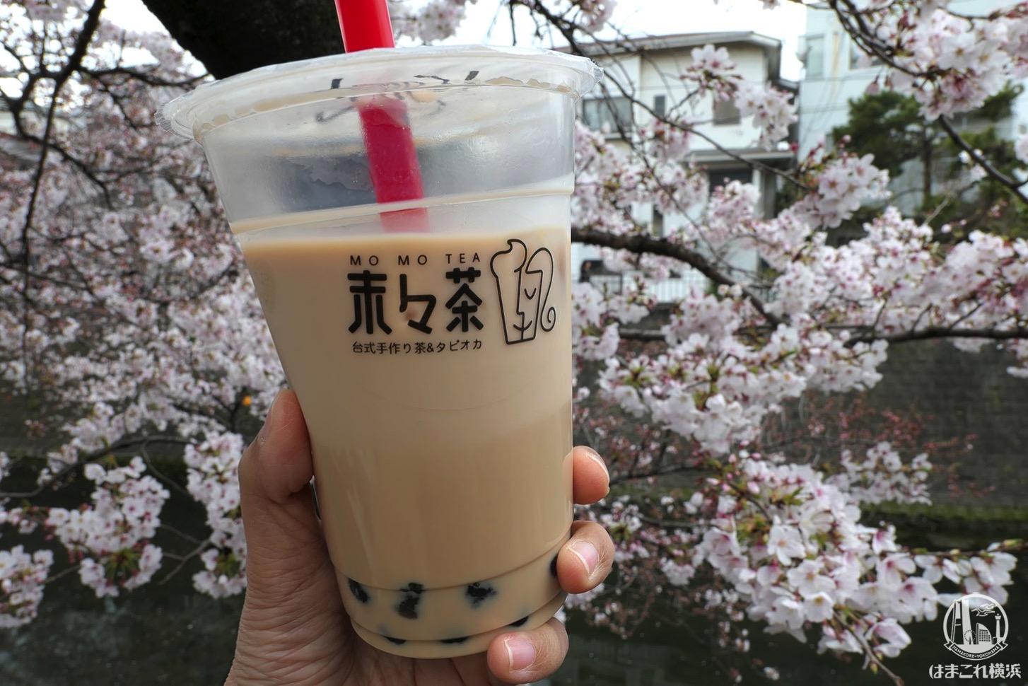 大岡川 桜まつり タピオカドリンク
