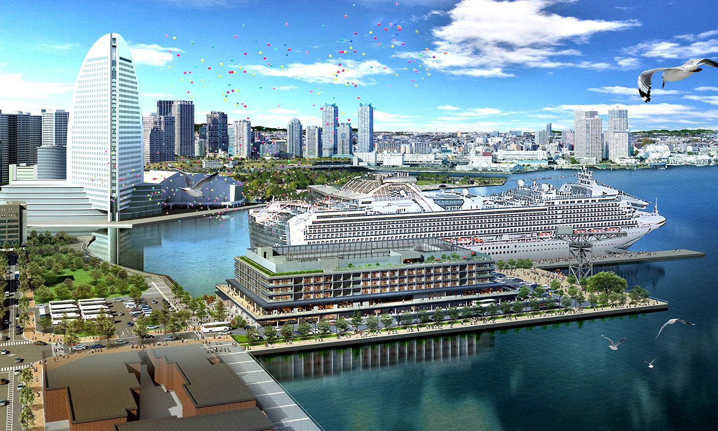 インターコンチネンタル横浜Pier 8、みなとみらいに開業!客船停泊のふ頭内