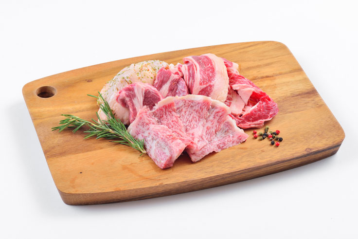 8月 北海道産黒毛和牛(日替わり3種)&焼き野菜3種