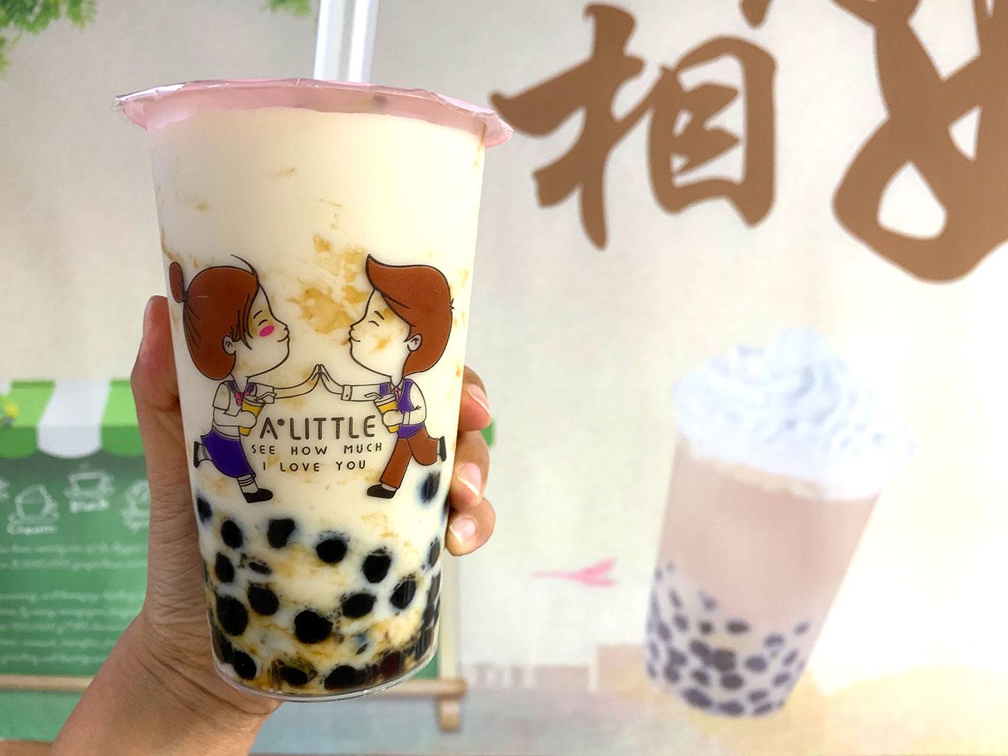 横浜中華街「アリトル」の黒糖タピオカミルクが可愛く黒糖強めで美味!台湾黒糖タピオカ専門店