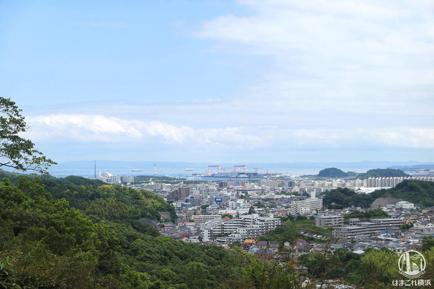 金沢動物園から見た海