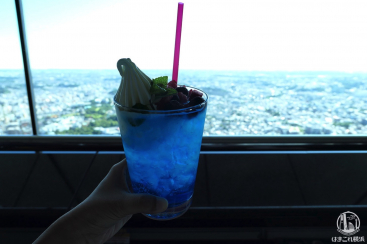 横浜ランドマークタワー「スカイカフェ」はソファで景色・富士山見える展望カフェ
