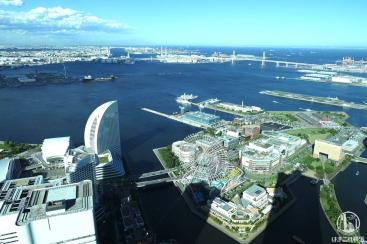 横浜ランドマークタワー展望フロア「スカイガーデン」昼の景色も夜景に負けない美しさ!