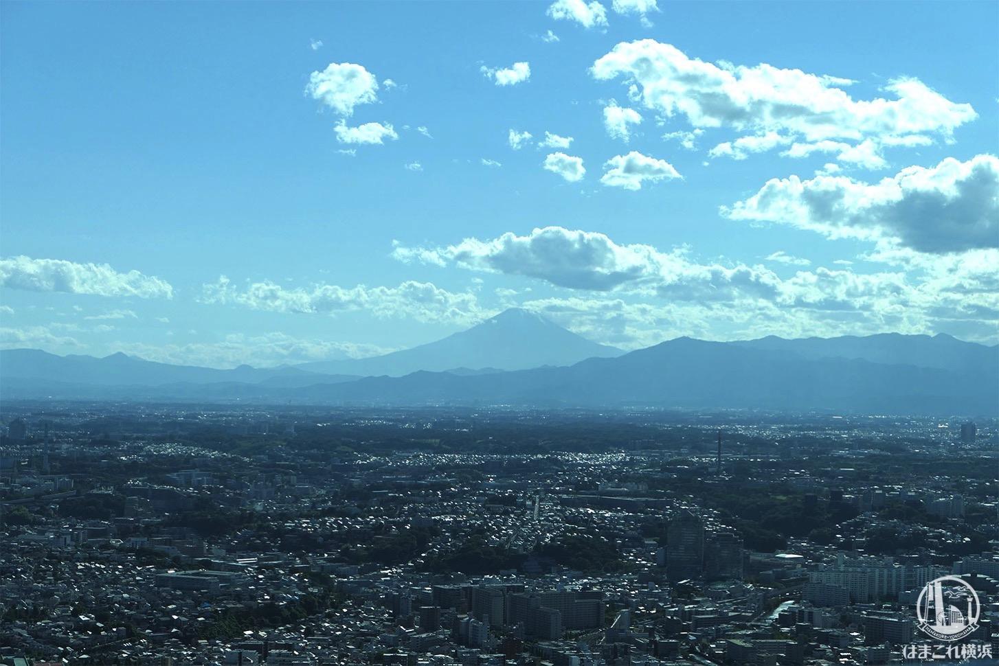 展望フロア「スカイガーデン」から見た富士山