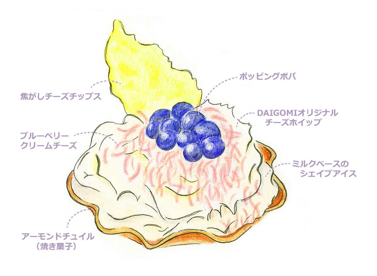 チーズシェービングケーキ
