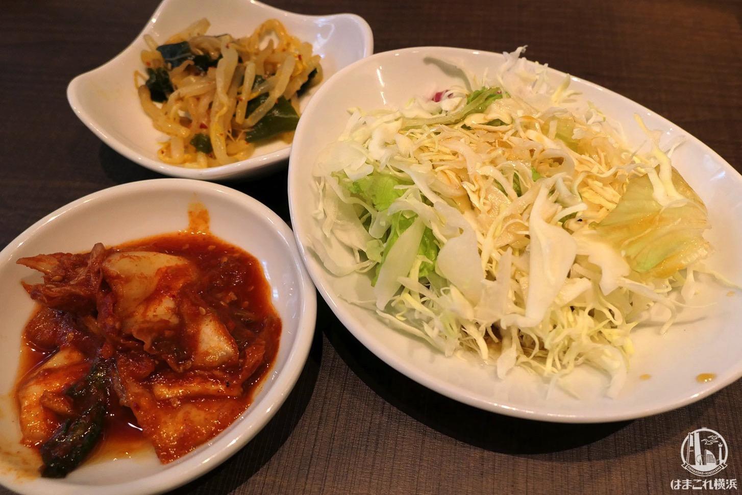 ランチのキムチ・サラダ・ナムル