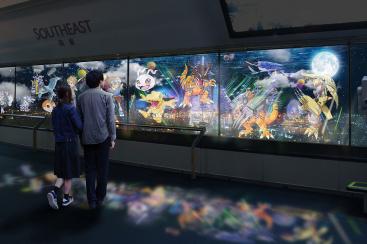 横浜ランドマークタワーで夜景に映る「デジモンマッピング」夏限定で開催!