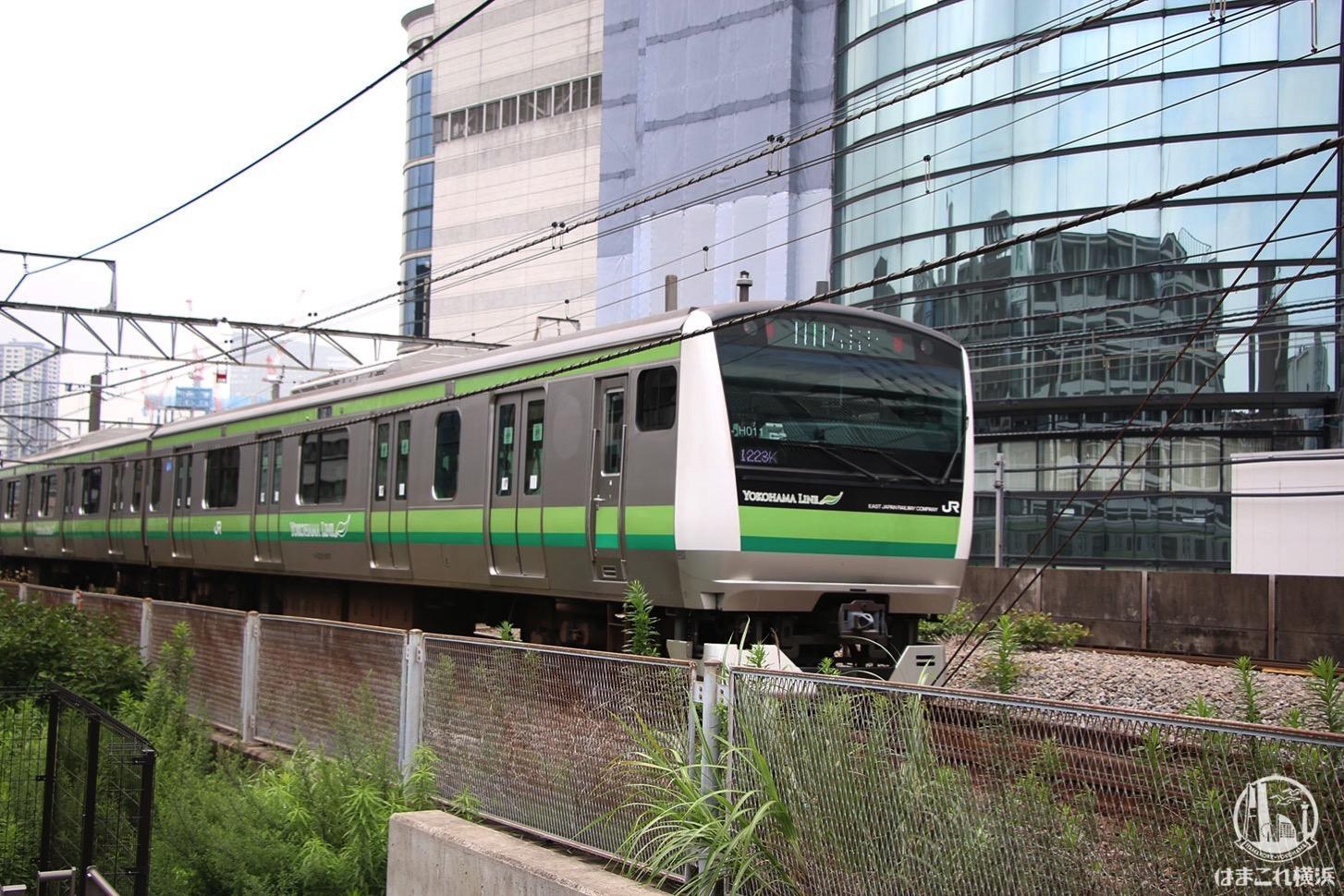 東横線跡地から見た横浜線