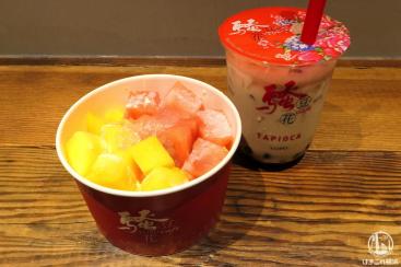 サオドウファ 横浜ポルタ店でタピオカドリンクと豆花食べてきた!店内席も少しあり
