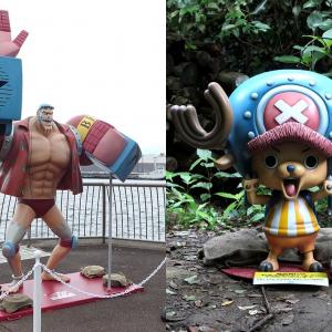 猿島・ワンピースの宴島イベント、チョッパーとフランキーのフィギュア設置場所