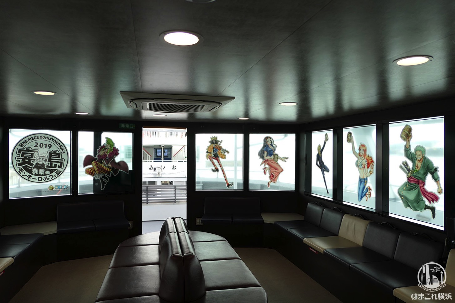 猿島航路 船内のワンピース