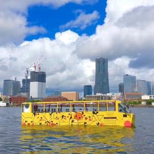 2019年 水陸両用バス「スカイダック」がピカチュウラッピング!ピカチュウ大量発生