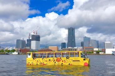 2019年も水陸両用バス「スカイダック」がピカチュウラッピング!ピカチュウ大量発生
