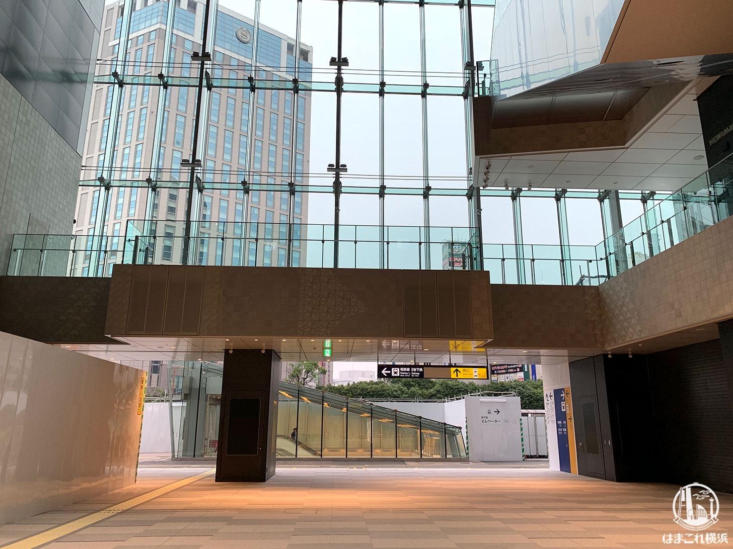 横浜駅西口 吹き抜け「アトリウム」