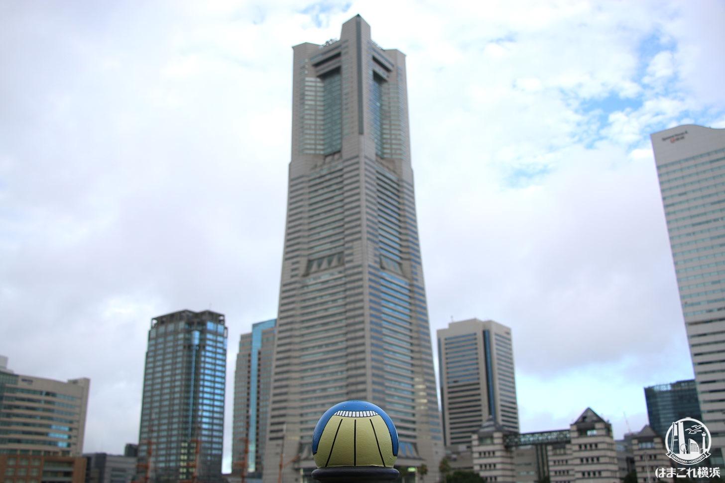 汽車道ホエルコと横浜ランドマークタワー