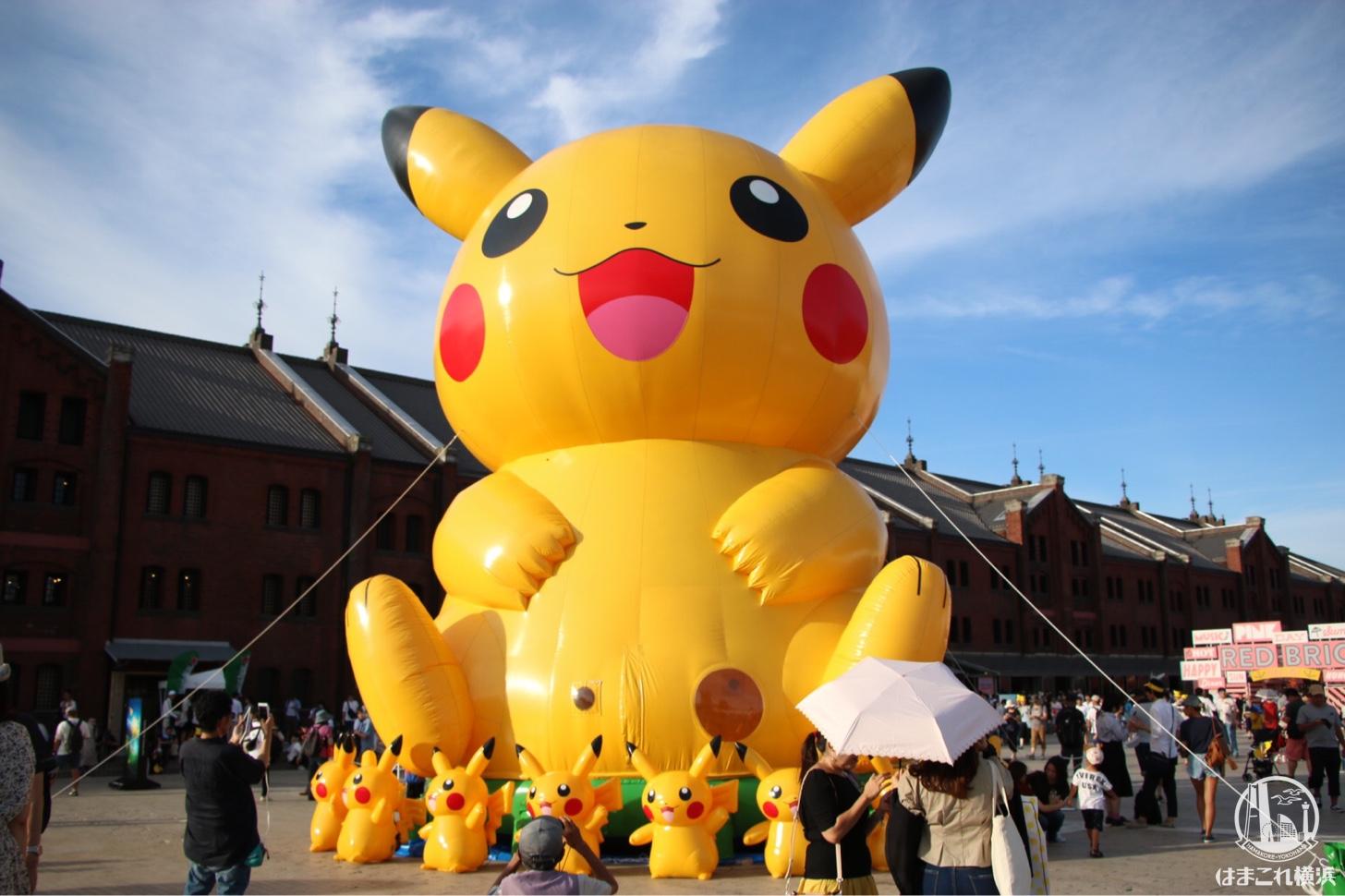 ポケモンGOフェスト 横浜の公園にポケモンオブジェ!ピカチュウバルーンやキッチンカーも
