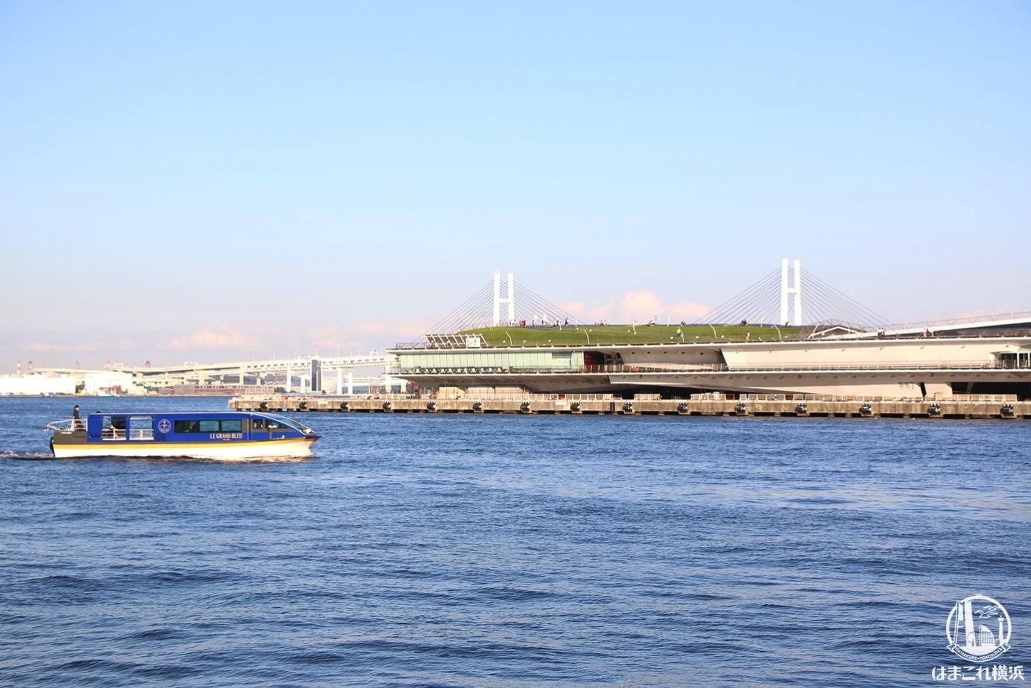 横浜赤レンガ倉庫 港の景色