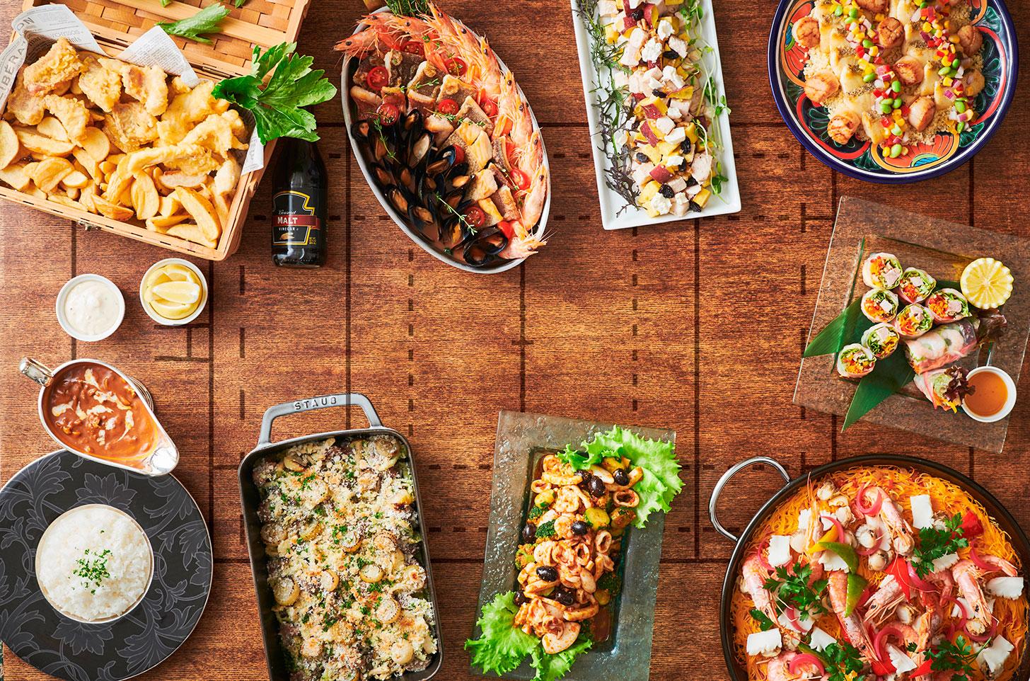 スカイラウンジ「シリウス」 世界各国の料理集まる「ラグビーワールドカップ2019™ 」フェア開催!