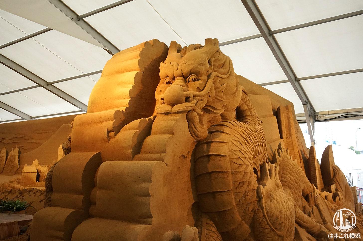 ヨコハマ砂の美術館 砂の彫刻