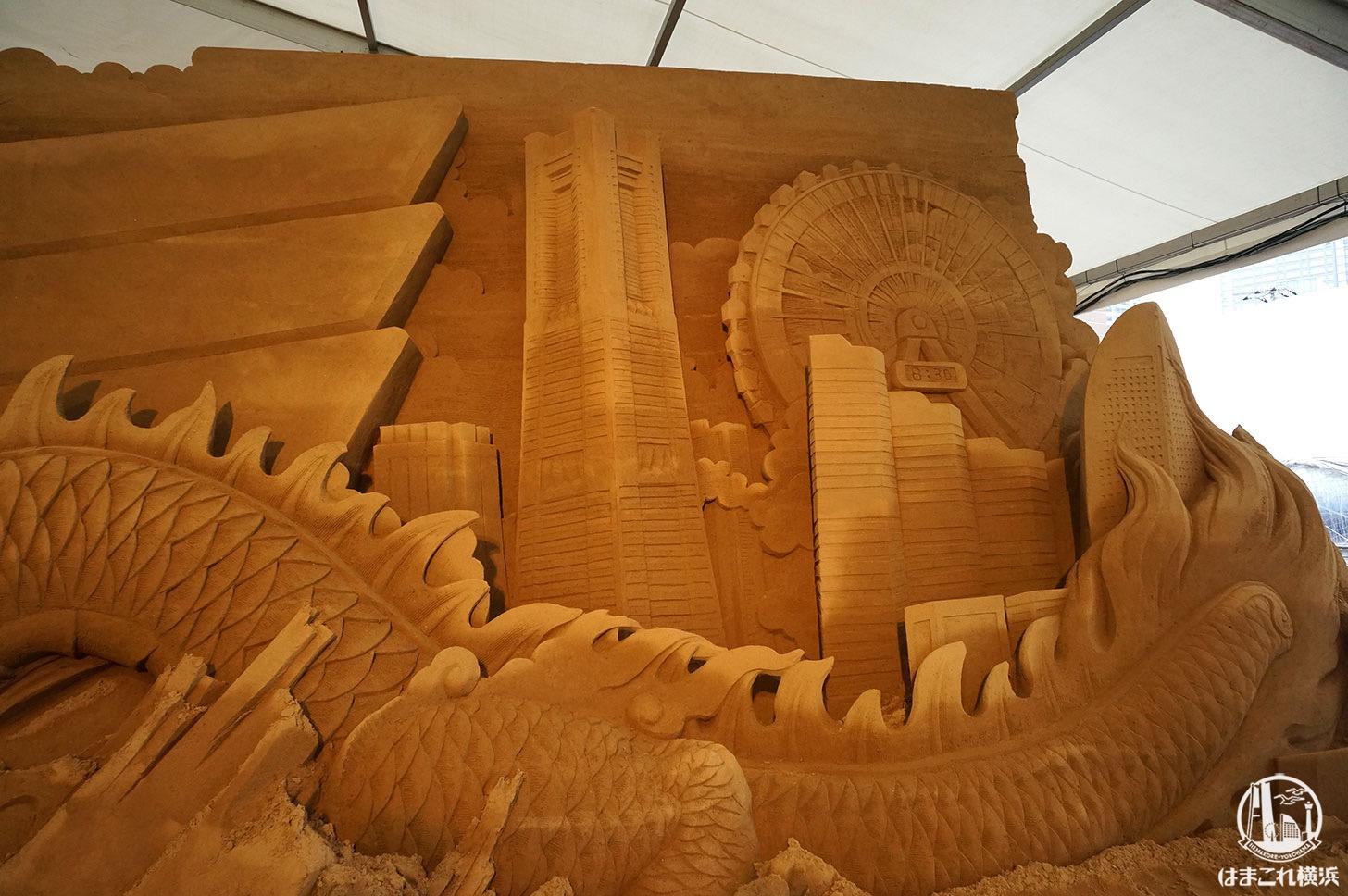 ヨコハマ砂の美術館 砂の彫刻 横浜ランドマークタワー