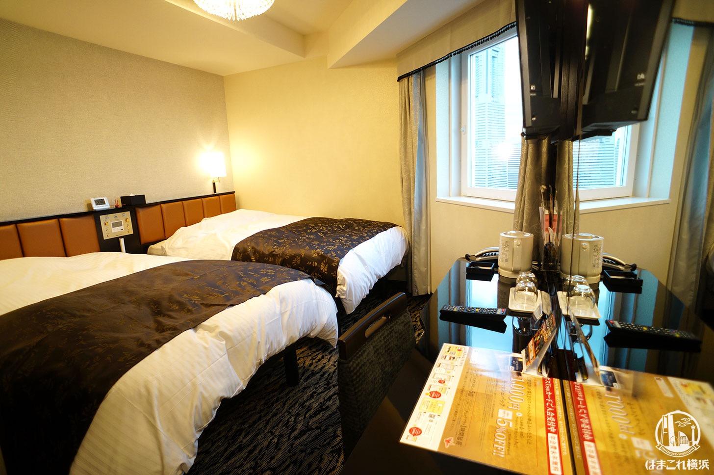 アパホテル&リゾート 横浜ベイタワー「コーナーツインルーム(みなとみらい側)」
