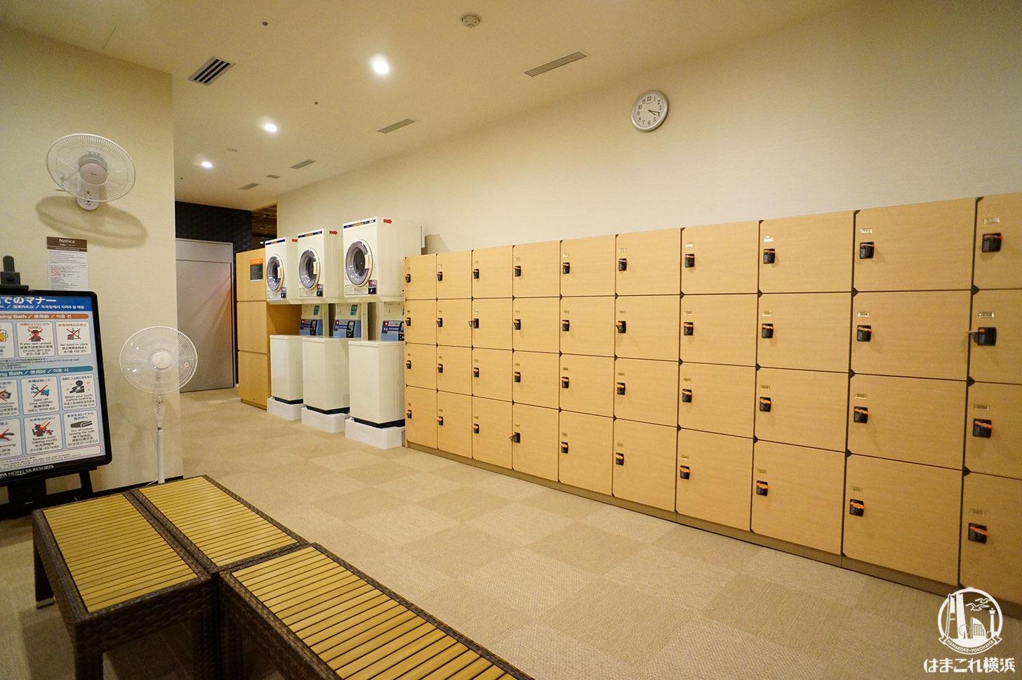 アパホテル&リゾート 横浜ベイタワー 大浴場 脱衣所