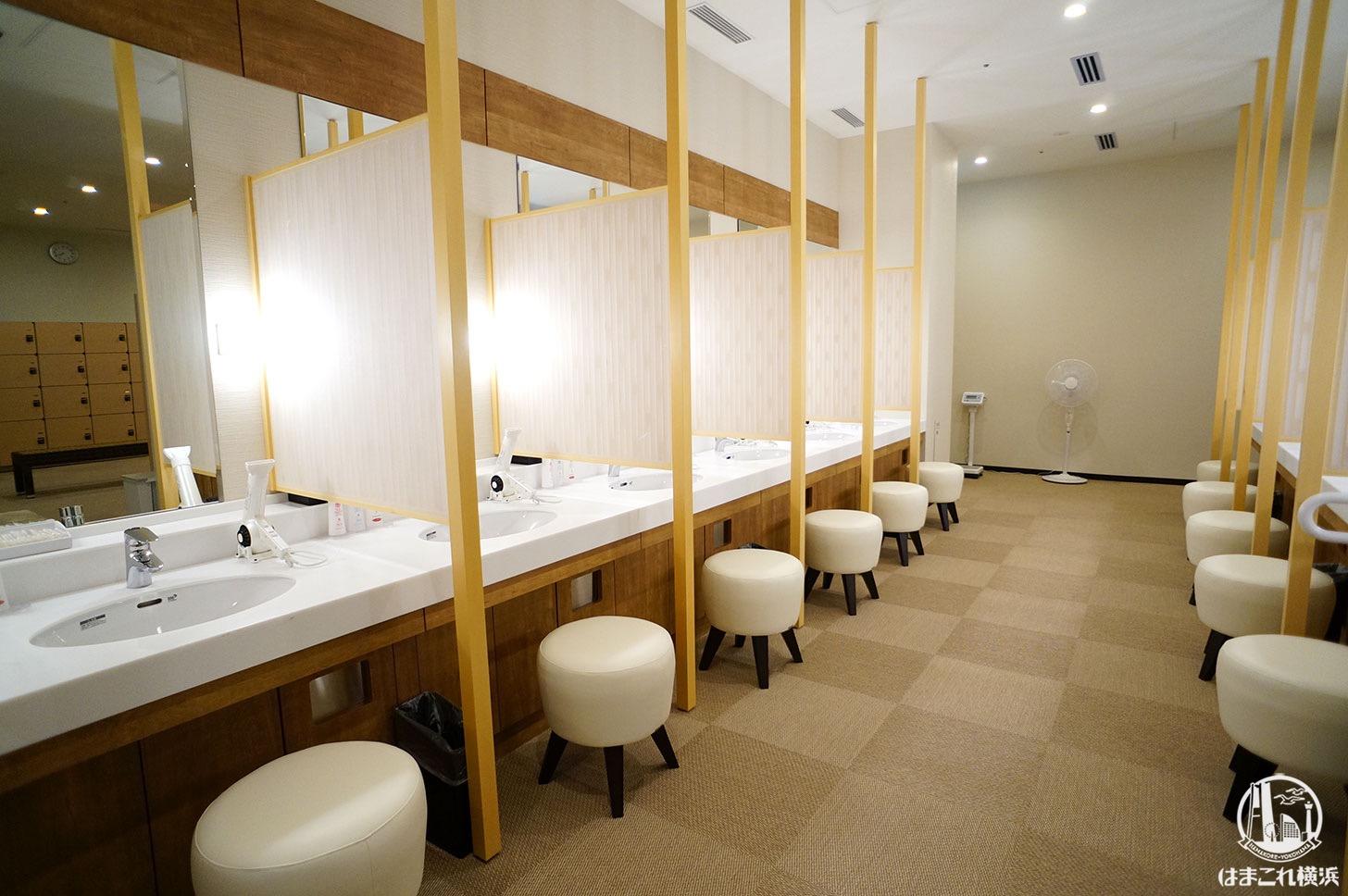 アパホテル&リゾート 横浜ベイタワー 大浴場 洗面台