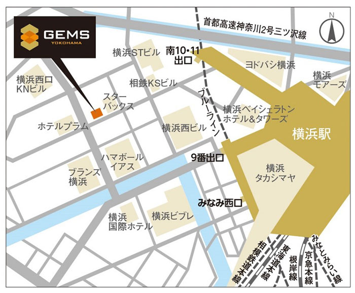 GEMS 横浜 場所
