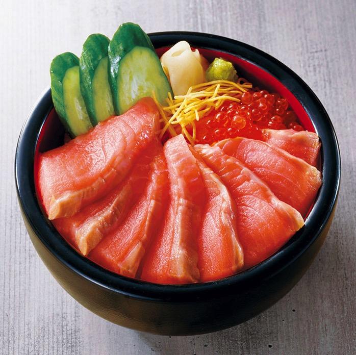 千春鮨 キングサーモン丼