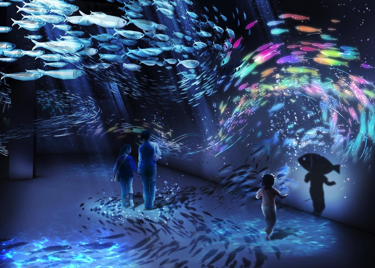 オーシャン バイ ネイキッド 光の深海展