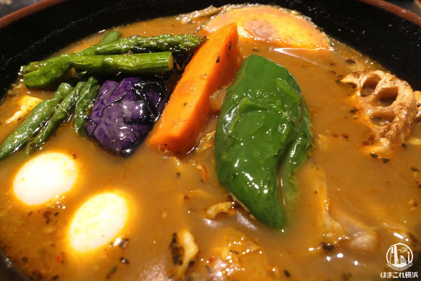 ラマイ スープカレー スープと具だくさんの野菜