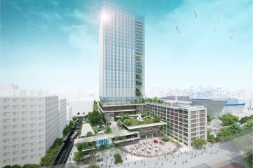 横浜市庁舎跡地に商業施設や星野リゾートによるホテルなど開業