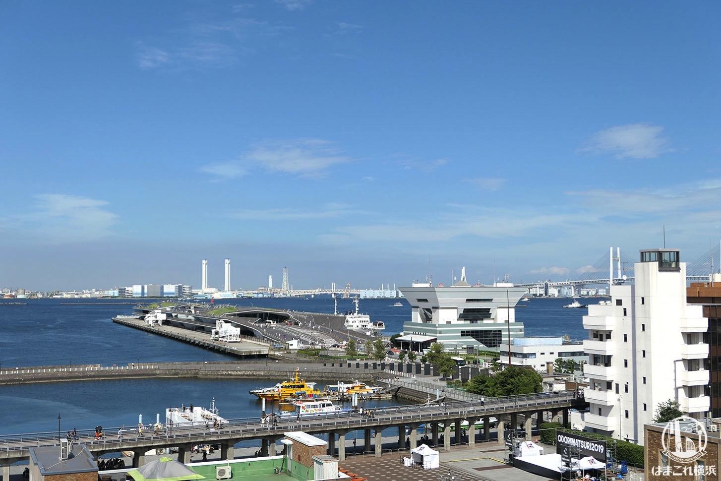 神奈川県庁本庁舎公開 屋上から見た横浜港