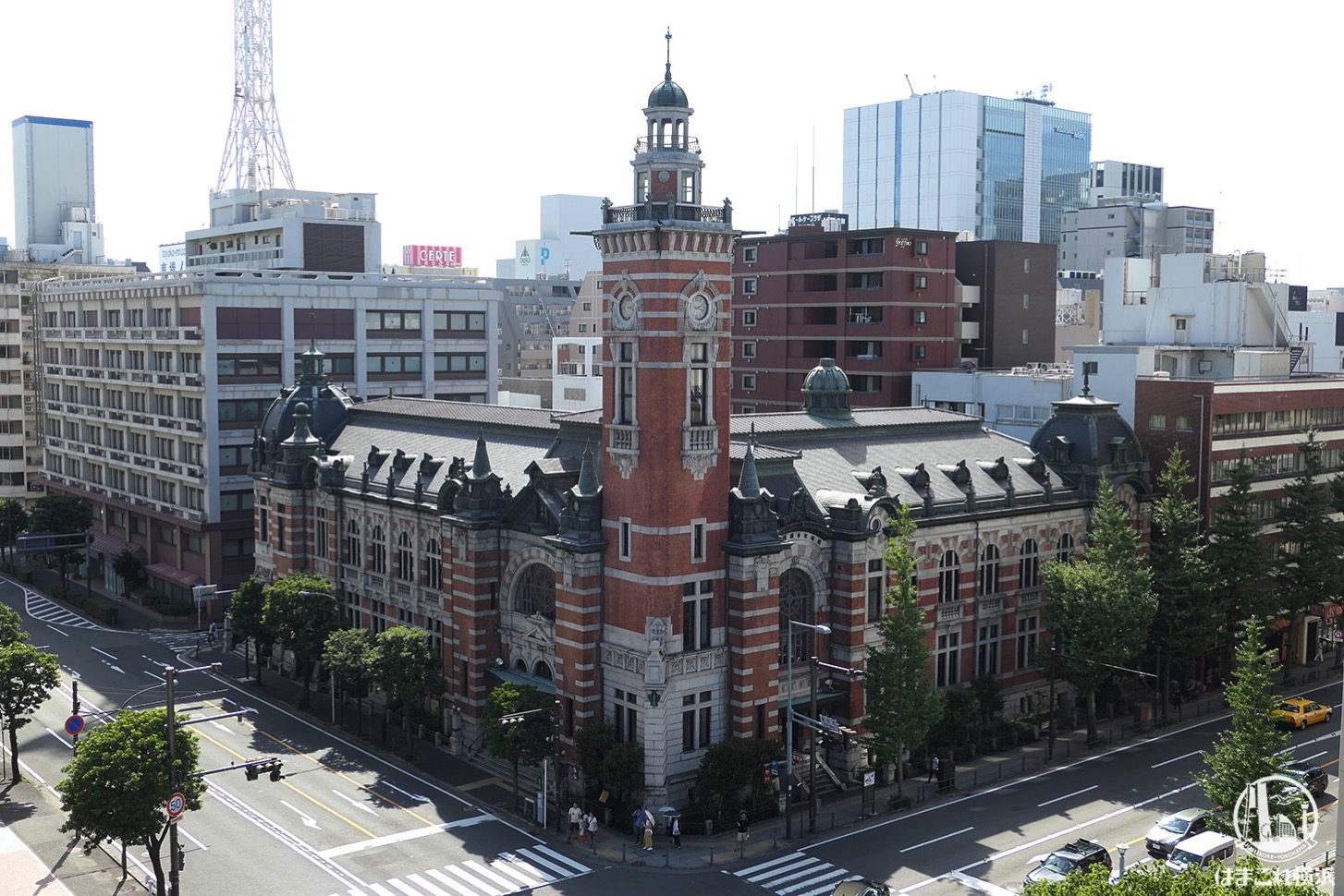 神奈川県庁本庁舎公開 屋上から見た横浜開港記念開館(ジャック)