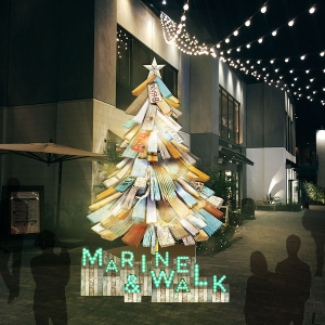マリン アンド ウォーク ヨコハマで「メリー・メロー・クリスマス」クリスマスツリーやマーケット