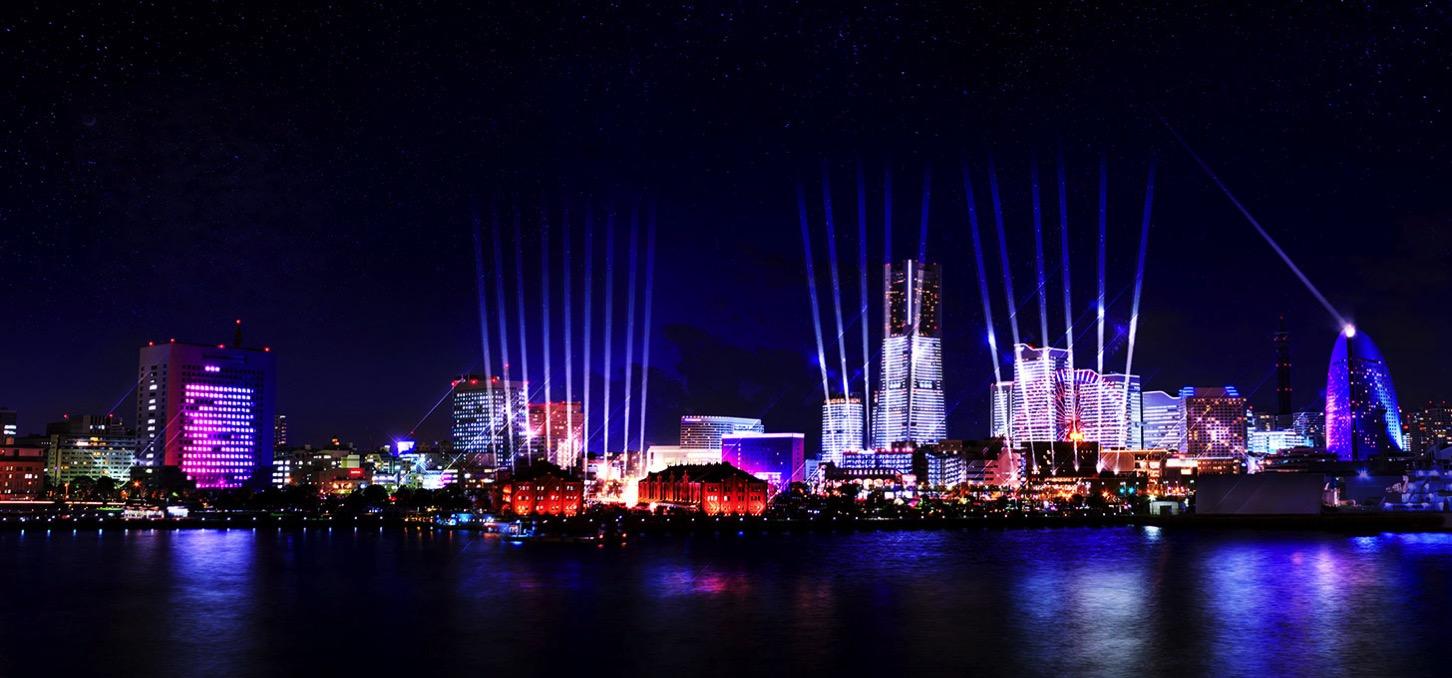 ナイトシンクヨコハマ開催決定!横浜の街を光と音のイルミネーションで彩る