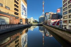 台風19号(2019年)通過翌日の横浜駅・帷子川などの状況